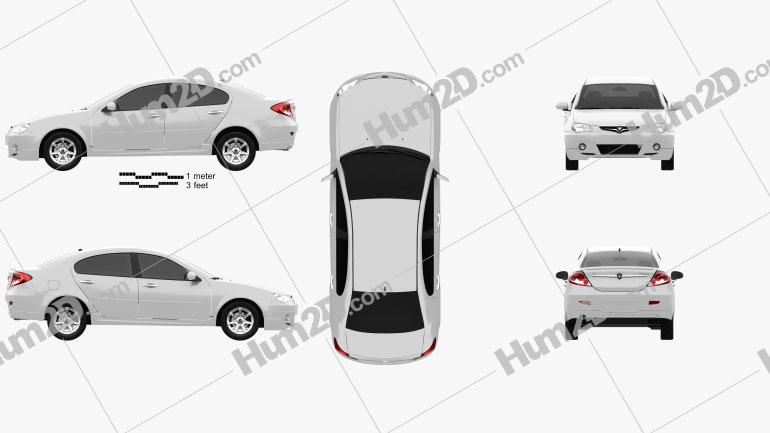 Proton Persona 2012 car clipart