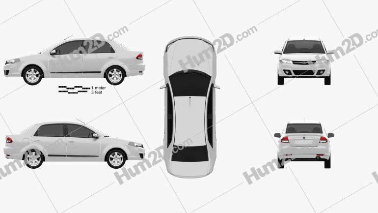 Proton Saga FLX 2012 car clipart