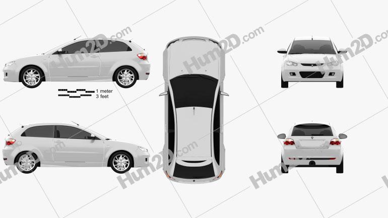 Proton Satria 2012 car clipart