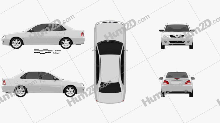 Proton Waja (Impian) 2010 car clipart