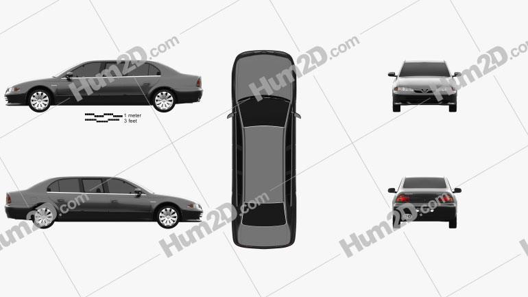Proton Perdana Grand Limousine 2004 car clipart