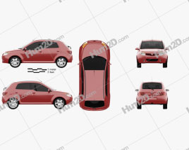 Proton Savvy 2011 car clipart