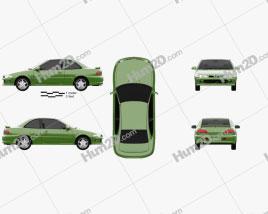 Proton Putra 1995 car clipart