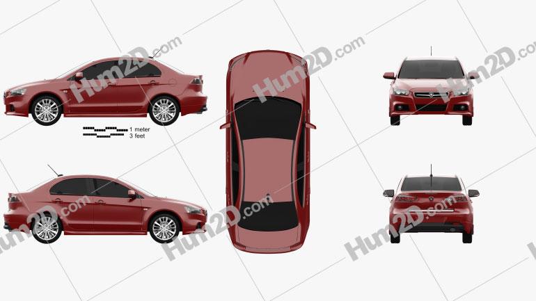 Proton Inspira 2010 car clipart