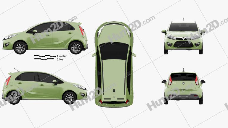 Proton Iriz 2014 car clipart