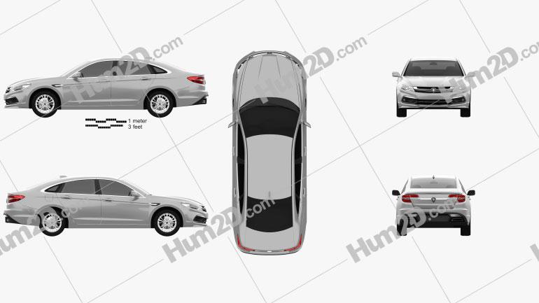 Proton Perdana 2017 car clipart