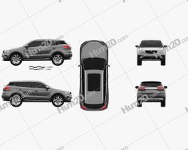 Proton X70 2018 car clipart