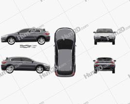 Qoros 3 Cross Hybrid 2014 Clipart