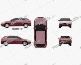 Qoros 3 hatchback 2014 Clipart