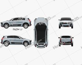 Qoros 2 SUV PHEV 2015 car clipart