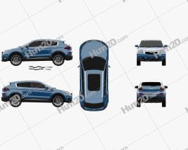 Qoros 5 SUV 2016 car clipart