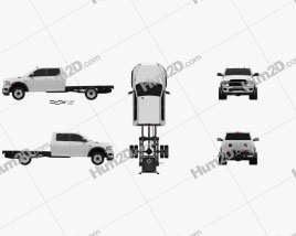 Ram 3500 Crew Cab Chassis SLT 2019 Clipart