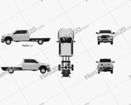 Ram 3500 Crew Cab Chassis SLT SRW 2019 Clipart