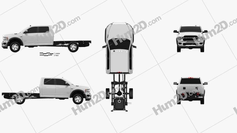 Ram 3500 Crew Cab Chassis SLT SRW 2019 car clipart