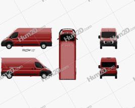 Ram ProMaster Cargo Van L3H2 2019 clipart