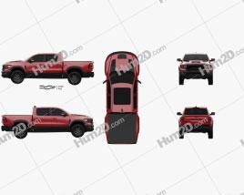 Ram 1500 Crew Cab TRX 2021 Clipart