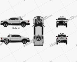Ram 1500 Crew Cab TRX Mopar Performance Parts 2020 car clipart