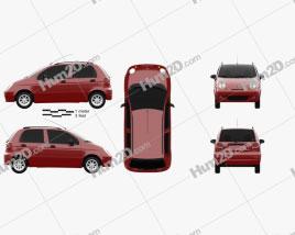 Ravon Matiz 2015 car clipart
