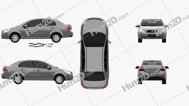 Ravon Nexia 2015 car clipart