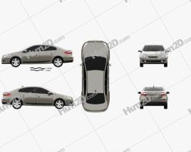 Renault Fluence 2010 car clipart