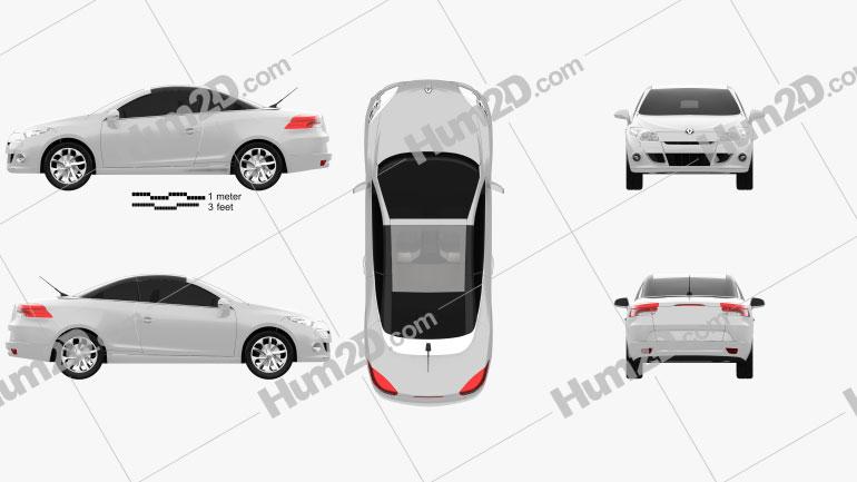 Renault Megane CC 2011 car clipart
