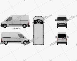 Renault Master Panel Van 2010 clipart