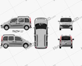 Renault Kangoo 2010 clipart