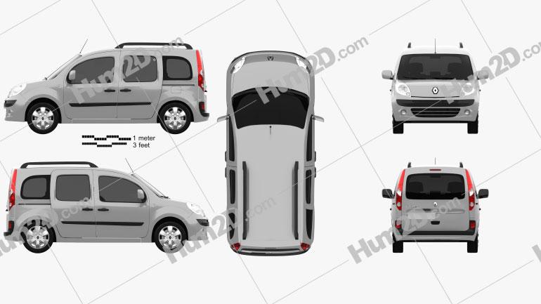Renault Kangoo 2010 Clipart Image