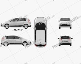Renault Scenic 2010 car clipart