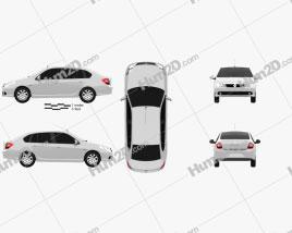 Renault Symbol 2010 car clipart