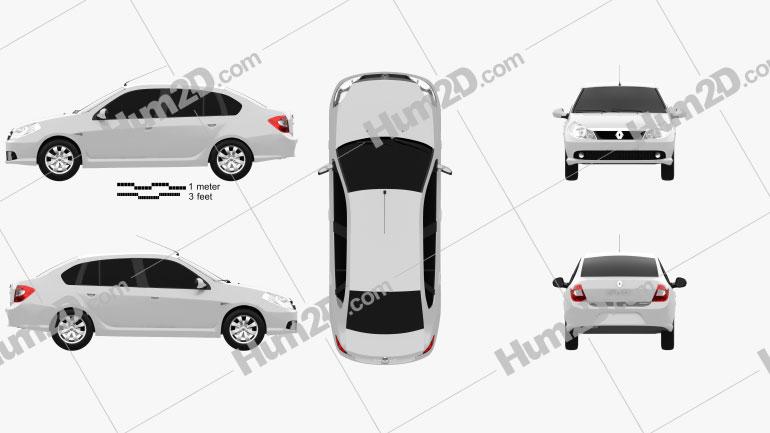 Renault Symbol 2010 Clipart Image