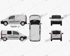 Renault Kangoo Van 1 Side Door 2011 Clipart