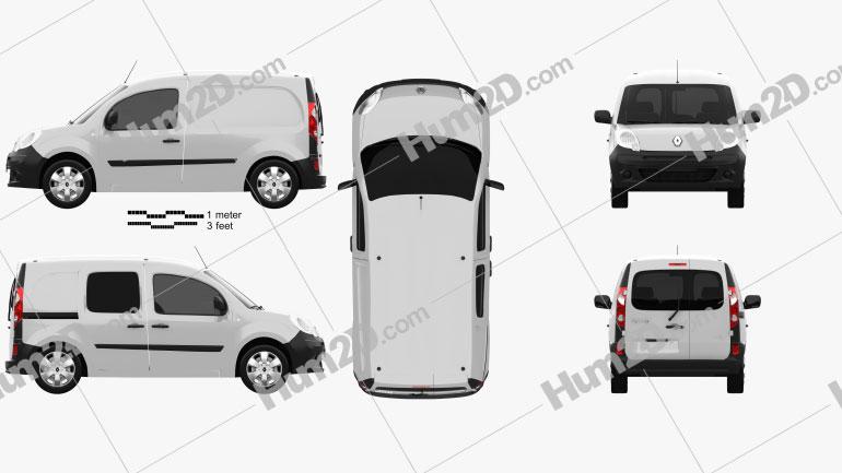 Renault Kangoo Van 1 Side Door 2011 Clipart Image