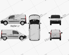 Renault Kangoo Van 2 Side Doors 2011 clipart