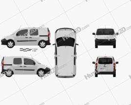 Renault Kangoo Van 2 Side Doors Glazed 2011 clipart