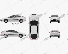Renault Laguna 2011 car clipart