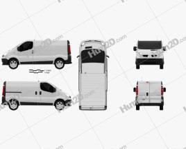 Renault Trafic Kastenwagen clipart