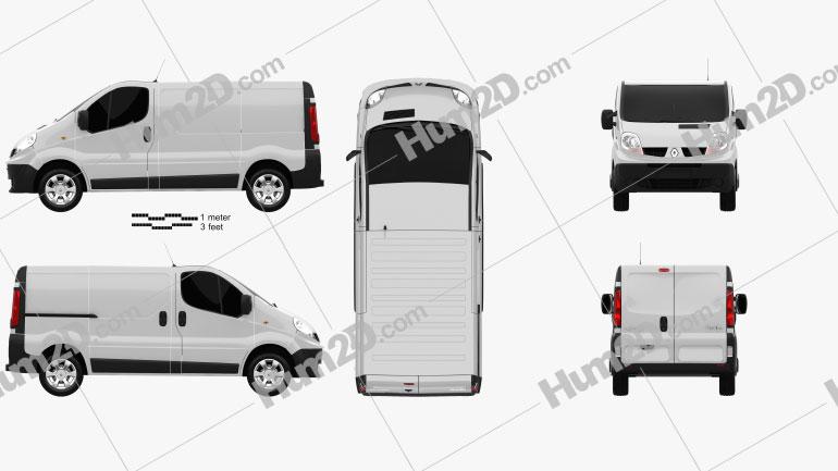 Renault Trafic Panel Van clipart