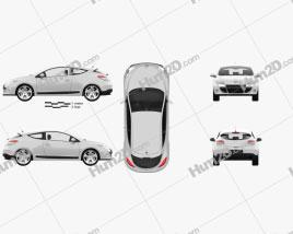 Renault Megane Coupe 2011 car clipart
