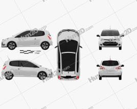 Renault Twingo 2012 car clipart