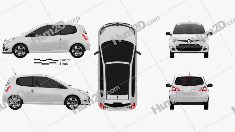 Renault Twingo 2012 Clipart Image