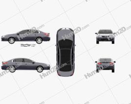 Renault Latitude 2011 car clipart