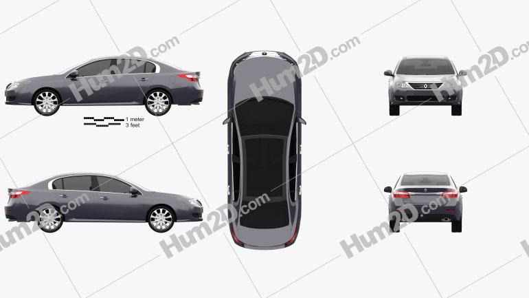 Renault Latitude 2011 Clipart Image
