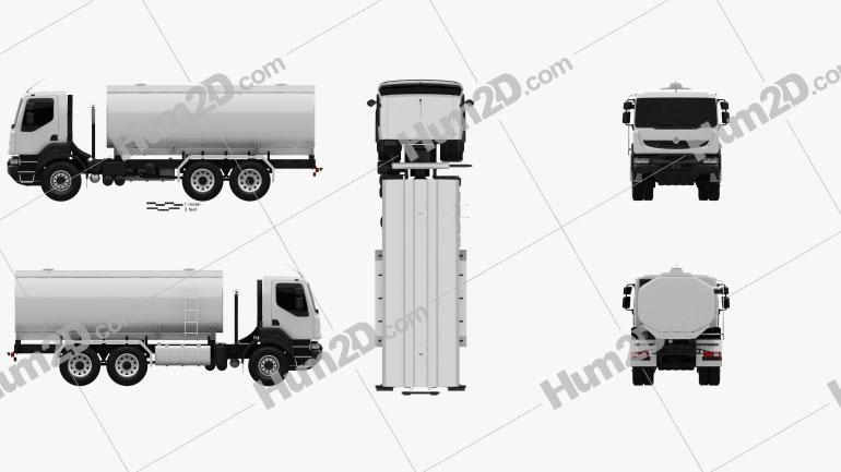Renault Kerax Tanker 2011 clipart