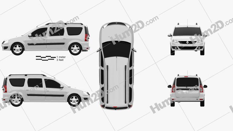 Renault Logan MCV 2011 clipart