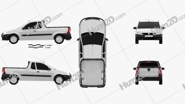 Renault Logan Pick-up 2011 car clipart