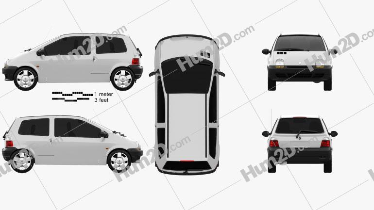 Renault Twingo 1992 car clipart
