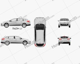 Renault Megane Estate 2011 Clipart