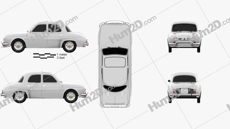 Renault Ondine 1962 car clipart