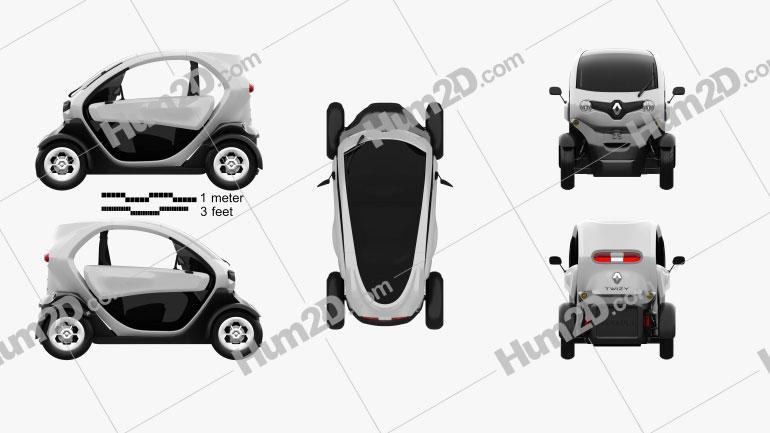 Renault Twizy 2012 car clipart